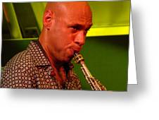 Joshua Redman 2 Greeting Card by Eva Kato