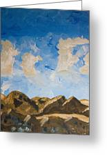 Joshua Tree National Park And Summer Clouds Greeting Card