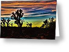 Joshua Trees In Cima Valley Greeting Card
