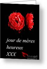 Jour De Meres Heureux Greeting Card