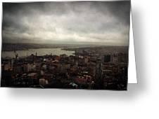 jour de pluie a Istanbul III Greeting Card