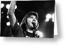 Journey Steve Perry 1983 Greeting Card by Chris Walter