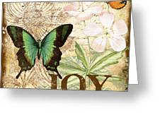 Joy And Butterflies Greeting Card