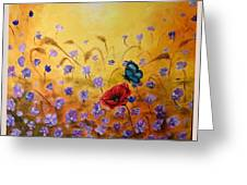 Joy Greeting Card by Draia Coralia