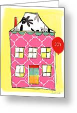Joy House Card Greeting Card by Linda Woods