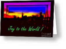 Joy To The World - Empire State Christmas And Holiday Card Greeting Card