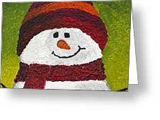 Joyce The Snowman Greeting Card