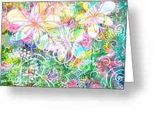Joyful Flowers By Jan Marvin Greeting Card