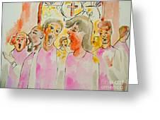 Joyful Noise Greeting Card by Sidney Holmes