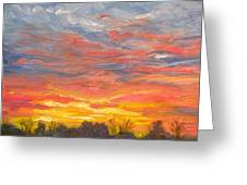 Joyful Sunset Greeting Card