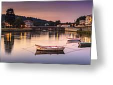Jubia River Panorama Neda Naron Galicia Spain Greeting Card