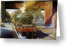 Jubilee 4.6.0 At Liverpool Lime Street. Greeting Card by Mike  Jeffries