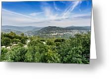 Judean Foothills Landscape Greeting Card