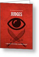Judges Books Of The Bible Series Old Testament Minimal Poster Art Number 7 Greeting Card