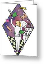 Juggling Chef Greeting Card by Diane Thornton