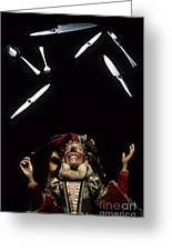 Jester Juggling Greeting Card