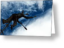 Juggling Statue Greeting Card