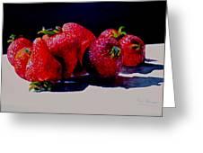 Juicy Strawberries Greeting Card