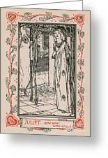 Juliet From Romeo And Juliet Greeting Card