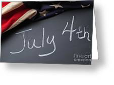 July 4 Sign On Chalkboard Greeting Card