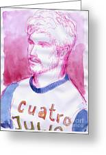 July 4th Cuatro De Julio Greeting Card