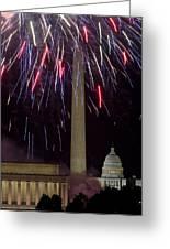 July 4th Fireworks Greeting Card by JP Tripp
