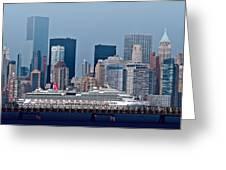 July 7 2014 - Carnival Splendor At New York City - Image 1674-01 Greeting Card