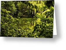July Tranquil Indian Lake Greeting Card