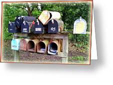 Jumbled Mailboxes Greeting Card