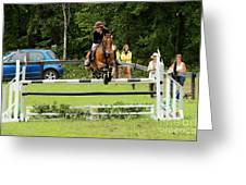 Jumping Eventer Greeting Card