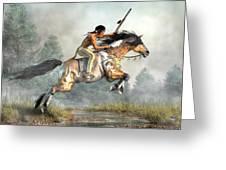 Jumping Horse Greeting Card