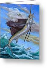 Jumping Sailfish Greeting Card