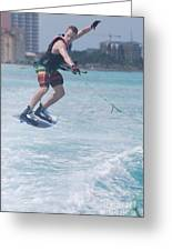 Jumping Wakeboarder Greeting Card