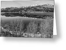 June Lake Black And White Greeting Card