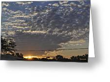 June Sunrise From The Series The Imprint Of Man In Nature Greeting Card