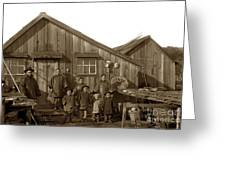 Jung San Choy And Chinese Family Pescadero Village Pebble Beach California Circa 1895 Greeting Card