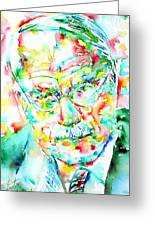 Jung - Watercolor Portrait.2 Greeting Card