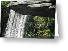 Jungle Cruise Waterfall Greeting Card
