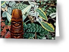 Jungle O Tiki Greeting Card by Anthony Morris