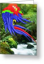 Jungle Quaker Greeting Card by John Kreiter