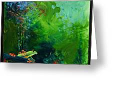 Jungle Rains I Greeting Card by Tracy L Teeter