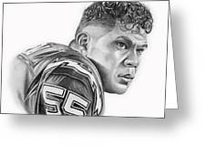 Junior Seau Greeting Card by Don Medina