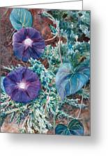 Juniper And Flowers Greeting Card
