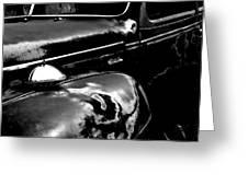 Junkyard Series Old Plymouth Black And White Greeting Card