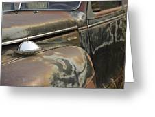 Junkyard Series Old Plymouth Greeting Card