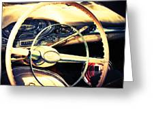 Junkyard Steering Wheel Greeting Card