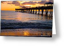 Juno Beach Pier Greeting Card