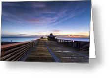 Juno Beach Pier Greeting Card