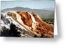 Jupiter Terrace Yellowstone National Park Greeting Card