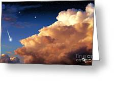 Jupiter's Stormy Sunset Greeting Card by Tharsis Artworks